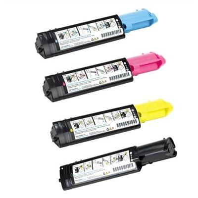 Pack de 4 : Cartouches de toner NMJC haute capacité pour imprimante laser couleur Dell 3100cn - Save 5%