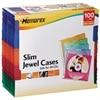 Multi-Color Slim CD Jewel Cases - 100-Pack