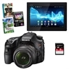 Sony Alpha SLT-A57K 16.1 MP DSLR Bundle with 18-55mm Zoom Lens, Sony 16GB Experia Tablet, 8GB Class 10 SD Card and Photo Creativity Suite