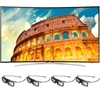 Samsung 55 Inch Curved LED Smart TV UN55H8000 3D HDTV with 3D glasses (4pcs)