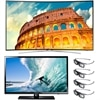 Samsung 55 Inch LED Smart TV UN55H8000 3D HDTV bundle with FREE UN32EH4003FXZA 32-inch LED TV and 3D glasses (4pcs)