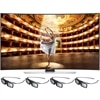 Samsung 78 Inch 4K LED Smart TV UN78HU9000 3D UHDTV with 3D glasses (4pcs)