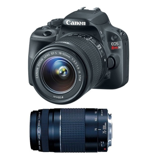 Canon EOS Rebel SL1 18.0 MP Digital SLR Camera with EF-S 18-55mm IS STM lens and EF 75-300mm f/4-5.6 III