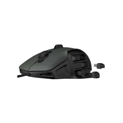 Roccat Nyth gaming mouse (black) bundle with Ryos MX FX gaming keyboard and Sense mousepad (chrome blue) - NYTH-MXFX-SENSE