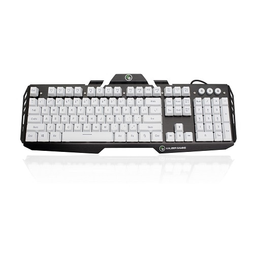 Iogear Kaliber Gaming by Hver Aluminum Gaming Keyboard - Keyboard - imperial white - GKB704L-WT