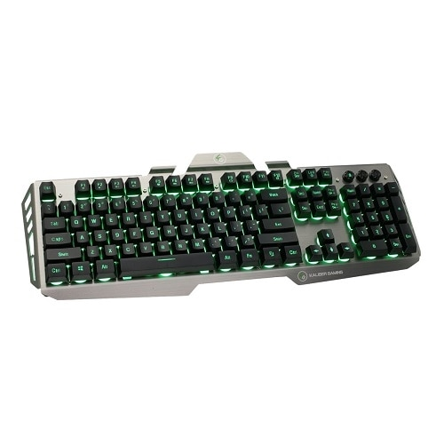 Iogear Kaliber Gaming by Hver Aluminum Gaming Keyboard - Keyboard - black\/gray - GKB704L-BK