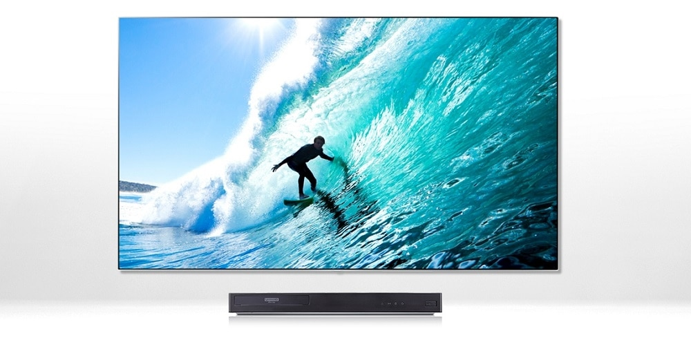 LG 65-inch OLED 4K Ultra HD Smart TV OLED65C7P with FREE LG UP870 – 4K Ultra HD 3D Blu-ray Disc Player