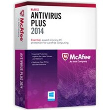 McAfee AntiVirus Plus 2014 - 1 PC License Product Shot