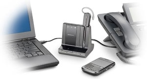 Plantronics Savi W740-M Convertible Wireless &#13;&#10;Headset Product Shot