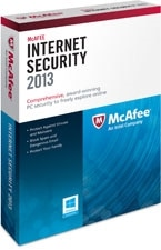 McAfee Internet Security 2013 - 1 User Product Shot
