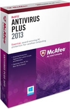 McAfee AntiVirus Plus 2013 - 1 User Product Shot