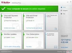 McAfee AntiVirus Plus 2014 - 1 PC License Product Shot