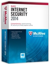 McAfee Internet Security 2014 - 3 PC License Product Shot