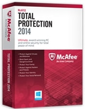 McAfee Total Protection 2014 - 1 PC License Product Shot