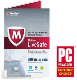 McAfee LiveSafe 2014 Product Shot