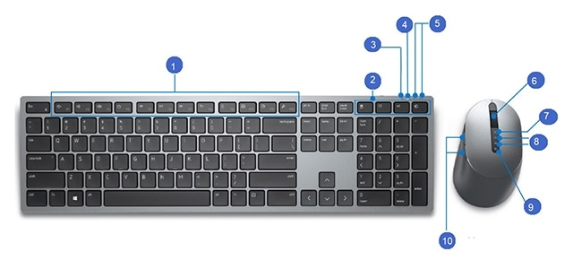 Dell Premier Multi-Device Wireless Keyboard and Mouse – KM7321W