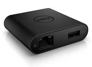 Dell Adapter – USB-C til HDMI/VGA/Ethernet/USB 3.0