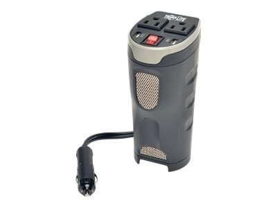 Tripplite Tripp Lite Car Inverter Cup Holder 200W 12V DC to 120V AC 2 USB Charging Ports 2 Outlets DC to AC power inverter ...