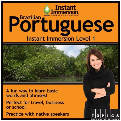 Topics Entertainment Instant Immersion Brazilian Portuguese Level 1 License 1 user download Win Mac