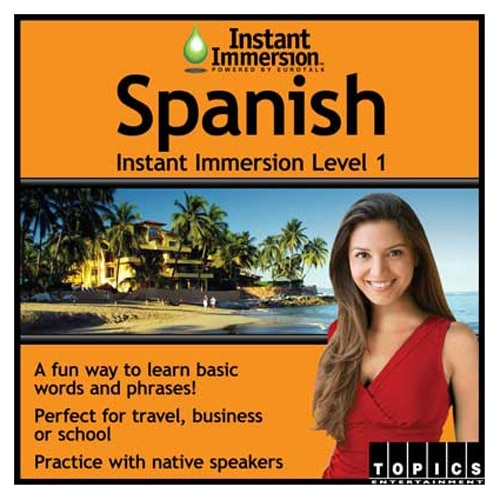 Topics Entertainment Instant Immersion Spanish Level 1 License 1 user download Win