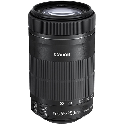 Canon EF S Telephoto zoom lens 55 mm 250 mm f 4.0 5.6 IS STM EF S