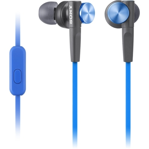 Sony Corporation Sony MDR XB50AP Earphones with mic in ear 3.5 mm jack blue MDRXB50AP L