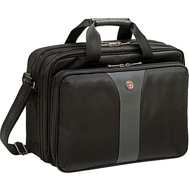 SwissGear Wenger Legacy 16 inch Double Gusset Laptop Case Laptop carrying case 16 inch black gray WA 7652 14F00