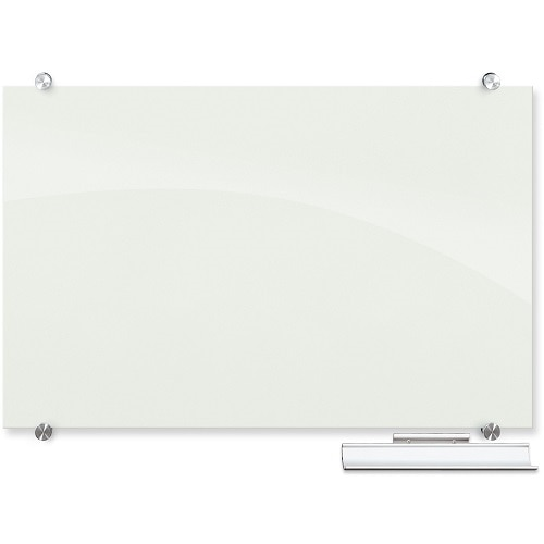 MooreCo Inc. Best Rite Visionary Whiteboard wall mountable 72 in x 48 in glass magnetic white gloss