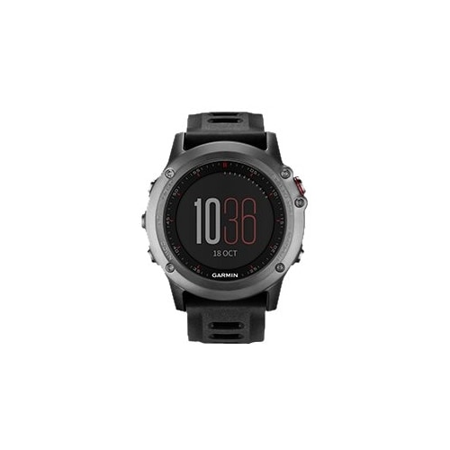 Garmin fēnix 3 with Black Band GPS Glonass watch cycle running swimming 1.2 in