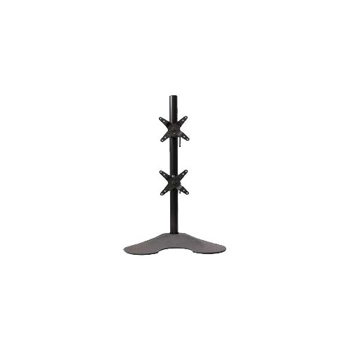 Ergotech 100 D28 B12 Stand pole stand base for 2 LCD displays black screen size up to 24 inch desktop s...