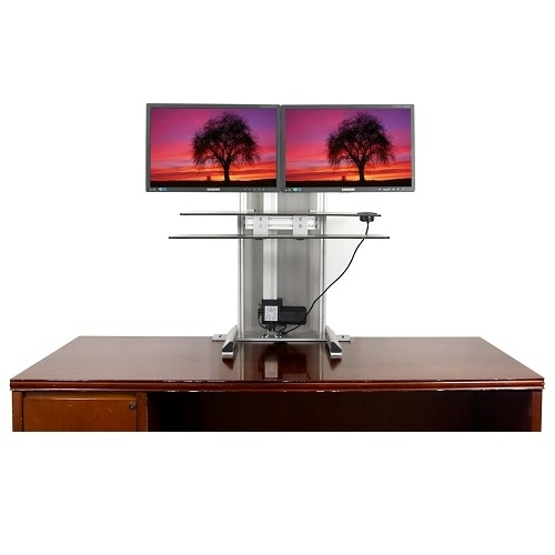 Ergotech One Touch Free Stand Bundle Stand for 2 LCD displays screen size 30 inch desktop stand