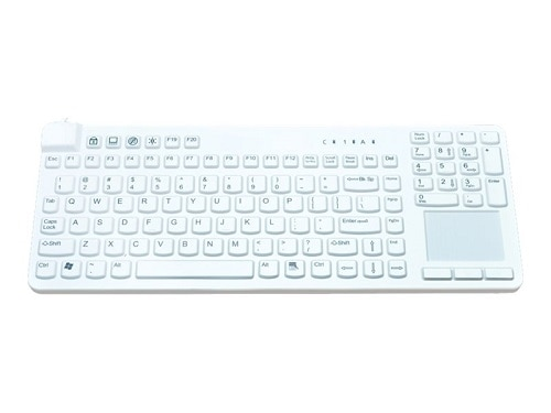 Man and Machine Really Cool Touch Medical Grade Keyboard w Magnets White RCTLP MAG W5