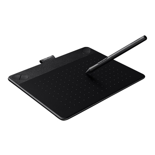 Wacom Intuos Comic Small Digitizer 6 x 3.7 in multi touch electromagnetic 4 buttons wired USB black CTH490CK