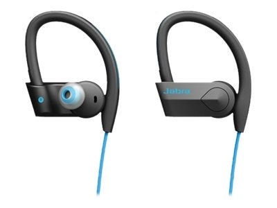 Jabra Sport Pace Wireless Bluetooth Stereo Earbuds retail packaging Blue 100 97700002 02