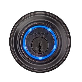 Kwikset Kevo Deadbolt key electronic key card Bluetooth venetian bronze