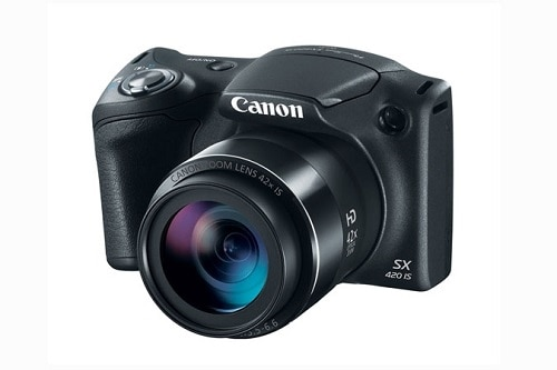 Click here for Canon Power Short SX420 is 20mpix 42X 3 in - Black prices
