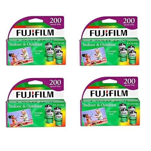FujiFilm Color print film 135 35 mm ISO 200 24 exposures 4 rolls