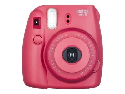 FujiFilm Instax Mini 8 Instant camera lens 60 mm raspberry