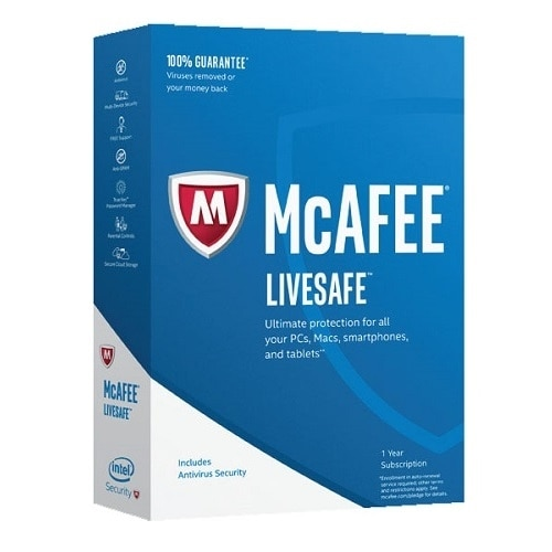 McAfee LiveSafe 2017 Subscription license 1 year unlimited devices ESD Win Mac Android iOS