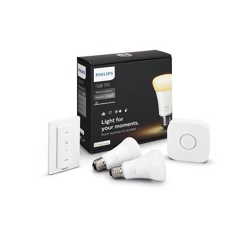Philips Hue Starter Kit wireless lighting set LED light bulb x 2