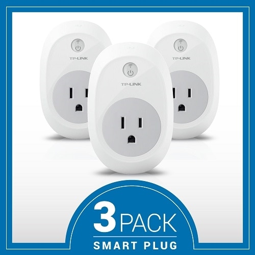 TP Link HS100 Smart plug wireless 802.11b g n 2.4 Ghz pack of 2