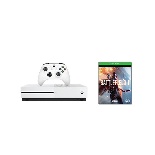 Click here for Xbox One S 500 GB Battlefield 1 bundle prices
