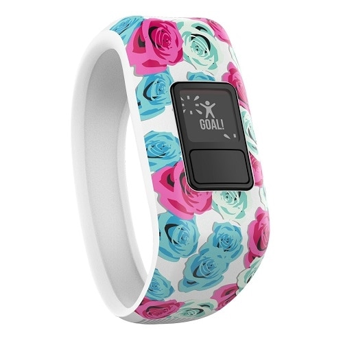 Garmin vívofit jr Activity tracker with band real flower monochrome Bluetooth 0.62 oz