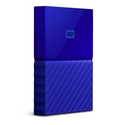 WD My Passport portable 1TB USB 3.0 external hard drive Blue WDBYNN0010BBL WESN