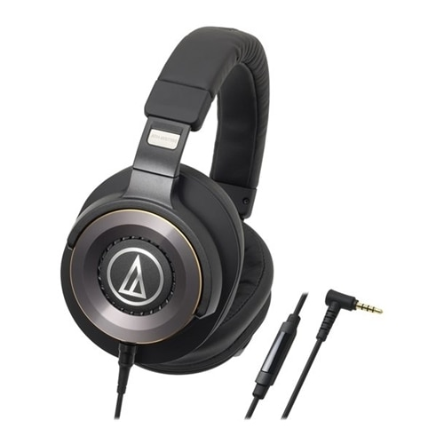 Audio Technica Audio Technica ATH WS1100iS Solid Bass Over Ear Headphones with In line Microphone Control