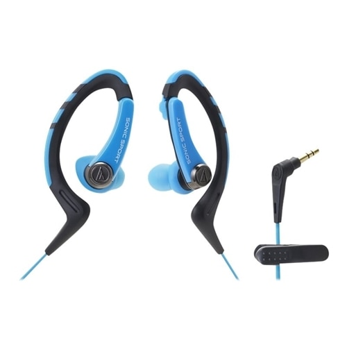 Audio Technica Audio Technica SonicSport ATH SPORT1 Earphones in ear over the ear mount 3.5 mm jack blue ATH SPORT1BL