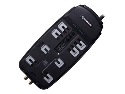 CyberPower Systems USA CyberPower Home Theater Series CSHT808TC Surge protector AC 125 V output connectors 8