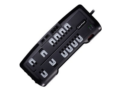 CyberPower Systems USA CyberPower Home Theater Series CSHT1208TNC2 Surge protector AC 125 V output connectors 12