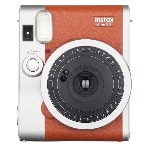 FujiFilm Instax Mini 90 NEO Classic Instant camera lens 60 mm brown