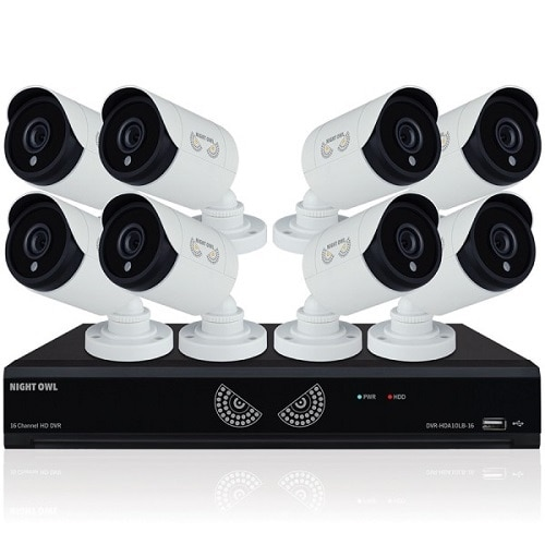 Night Owl LLC 16 Channel 1080 Lite HD Analog Video Security System with 1 TB HDD and 8 x 1080p HD Wired Cameras